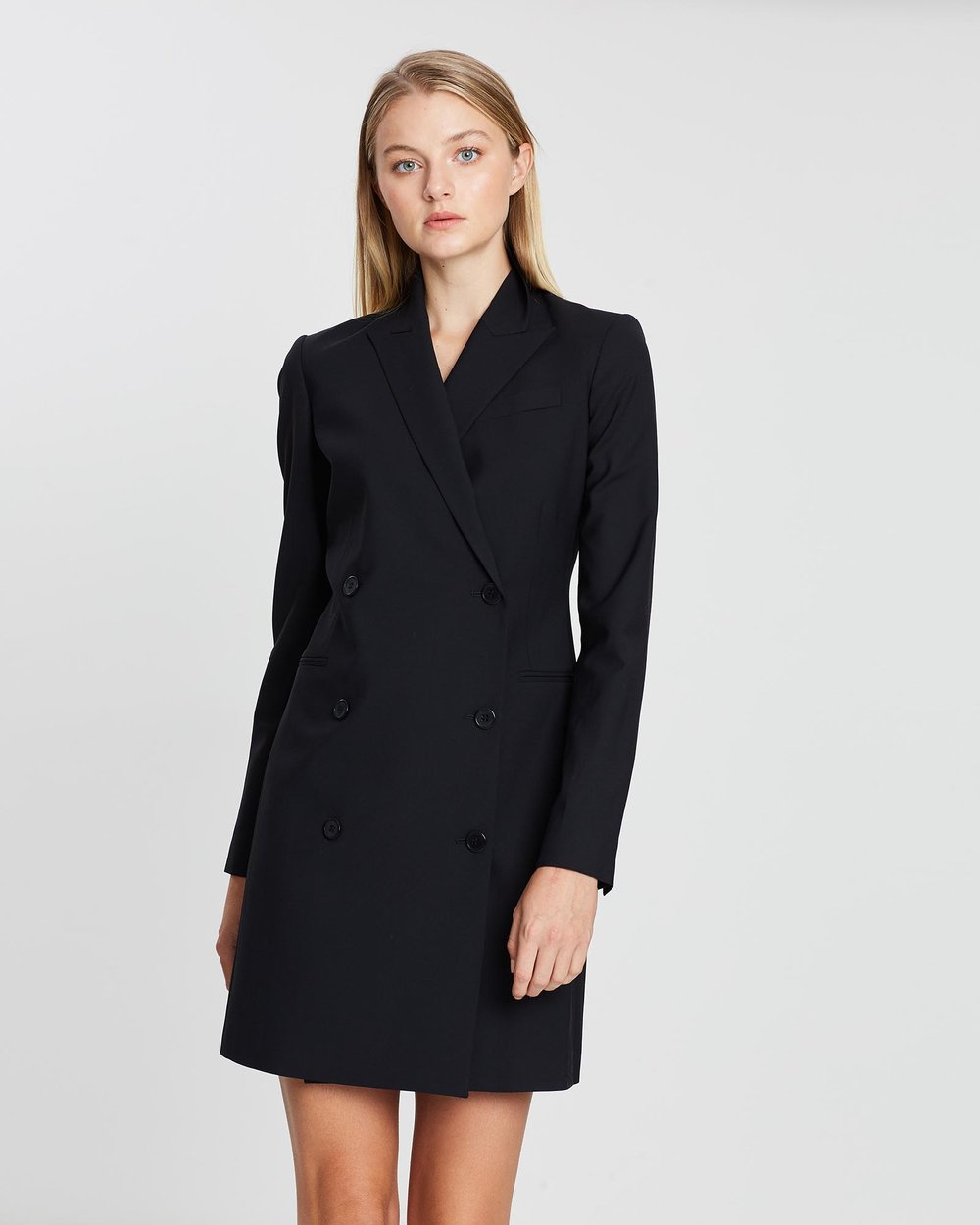 d86d555f40126 Wool Blazer Dress by Theory Online | THE ICONIC | Australia