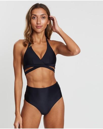 Allerton Ashleigh Wrap Bikini Top Black