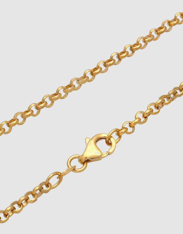 Elli Jewelry - Necklace Choker Elegant Basic Minimal in 925 Sterling Silver Gold Plated