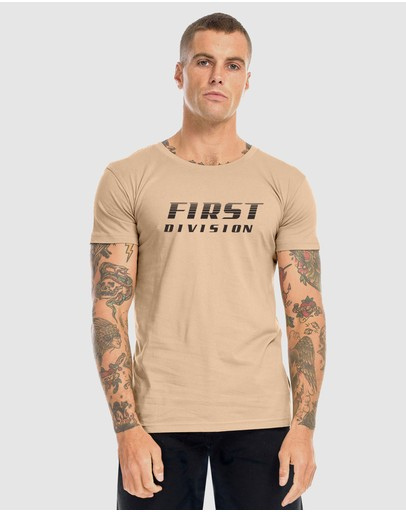 First Division Circuit Tee Camel