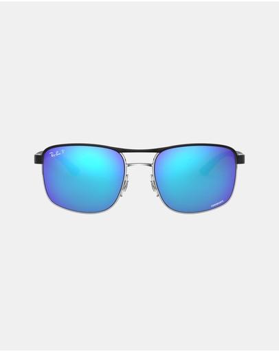 Ray-ban Metal Chromance Sunglasses - Men's Rb3660ch Black Mirror