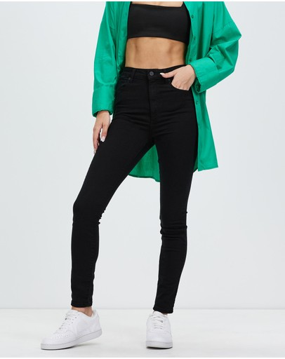 Abrand A High Skinny Ankle Basher Jeans Black Magic
