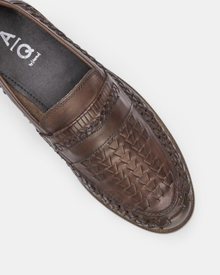AQ by Aquila Tulsa Loafers - Casual Shoes (Chocolate)