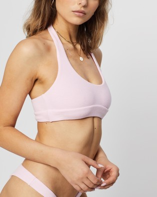 IT'S NOW COOL The Halter Top - Bikini Tops (Pastel Pink Terry)