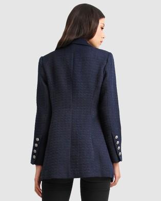 Belle & Bloom Princess Polina Tweed Blazer - Blazers (Navy)