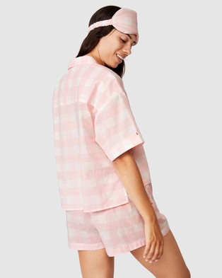 Cotton On Body Washed Woven Sleep Set - Two-piece sets (Gingham Check)