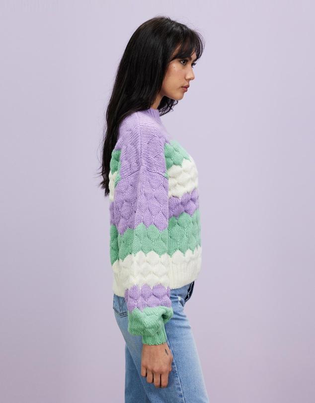 Women Wild Dreams Bobble Knitted Jumper