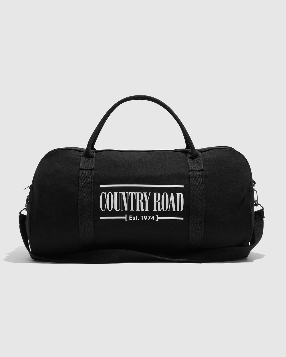 Country Road Heritage Zip Canvas Tote Bags black