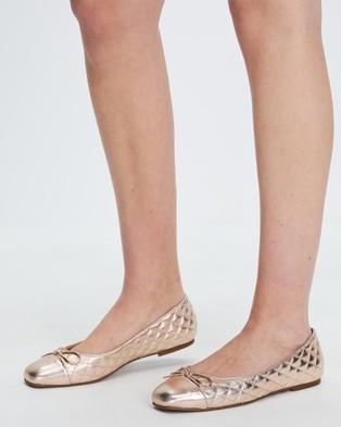 ALDO - Braylynn Quilted Ballet Flats - Ballet Flats (Rose Gold) Braylynn Quilted Ballet Flats