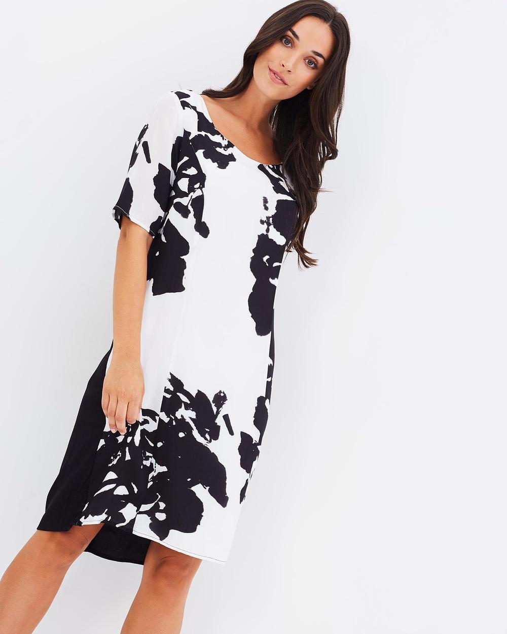 Faye Black Label Scoop Neck Dress Dresses Silhouette Scoop Neck Dress