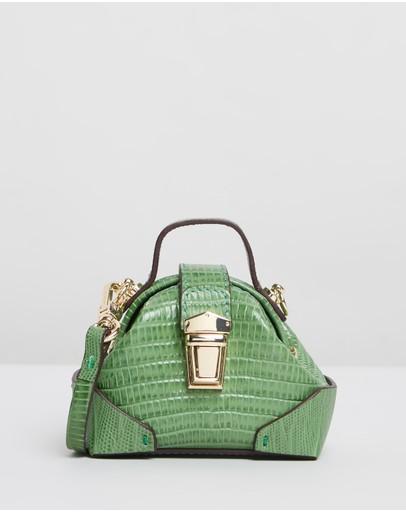 Manu Atelier Micro Demi Bag Green Lizard