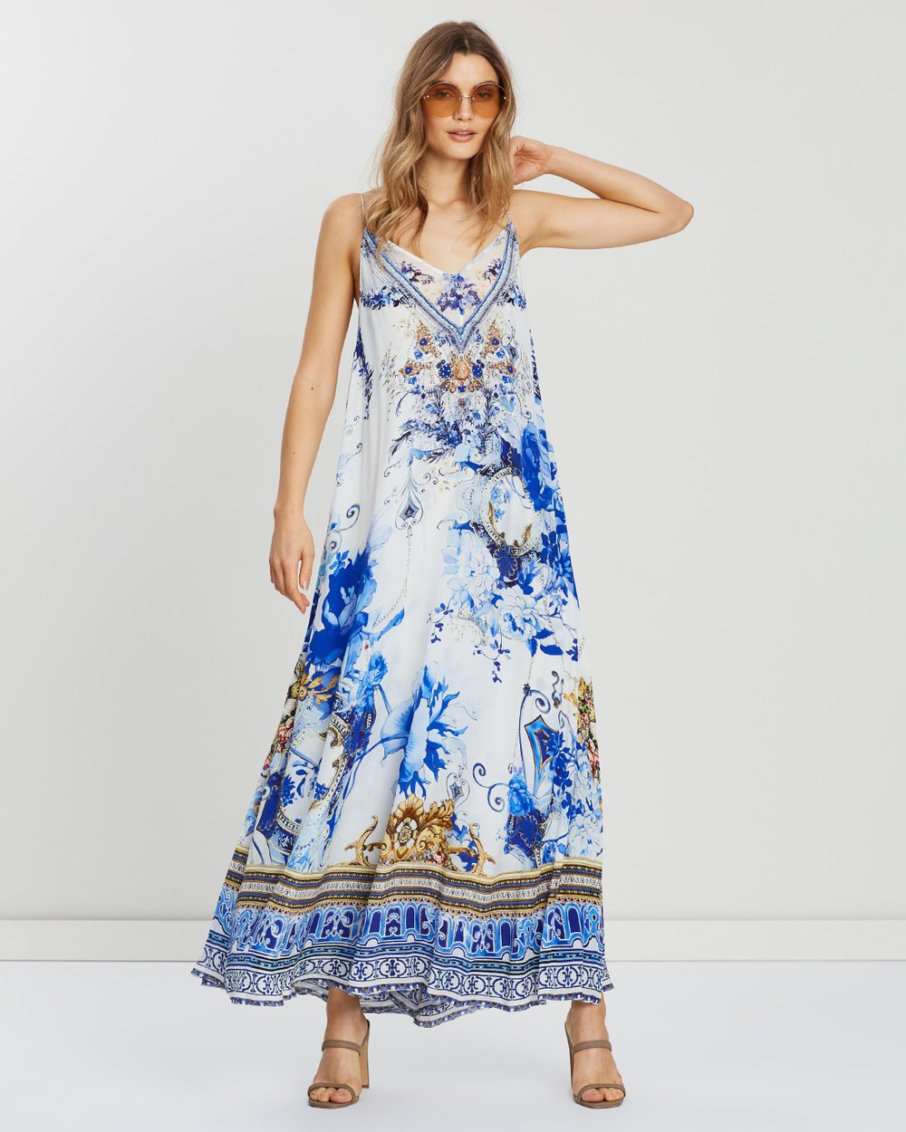b537aaf507e Long Dress With Sheer Underlay by Camilla Online