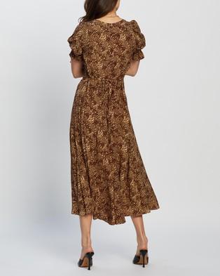 Faithfull The Brand Maggie Midi Dress - Printed Dresses (Charlie Leopard)
