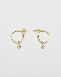 By Charlotte - ICONIC EXCLUSIVE - Hope Hoops Gold-Plated Sterling Silver Earrings