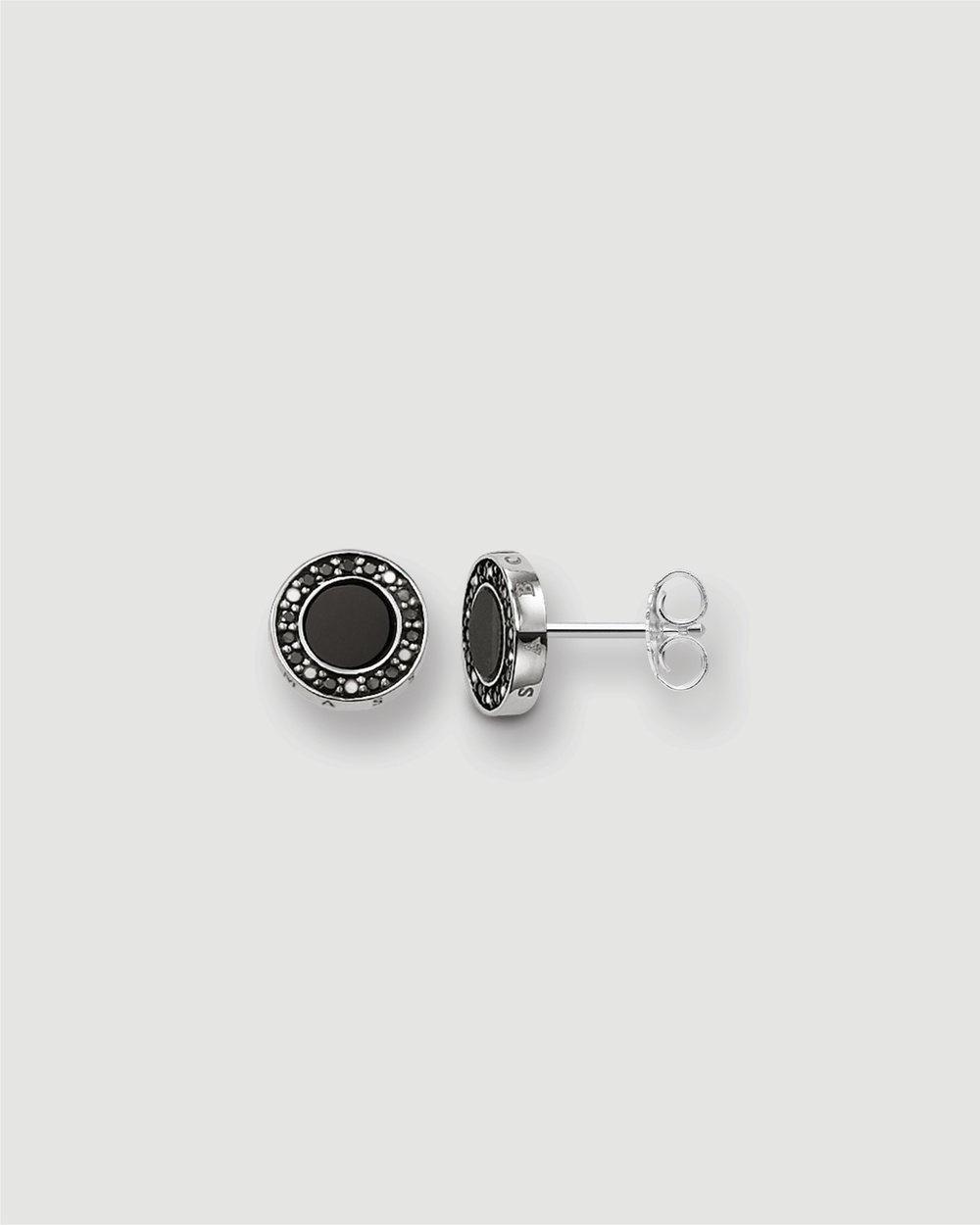 THOMAS SABO Classic Pave Black Ear Studs Jewellery Black