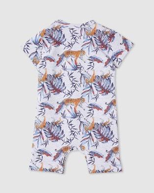 Milky ICONIC EXCLUSIVE  ?áBamboo Tiger Romper   Babies - Shortsleeve Rompers (Bamboo Tiger)