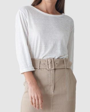 Amelius Bronte Linen T Shirt - T-Shirts & Singlets (White)