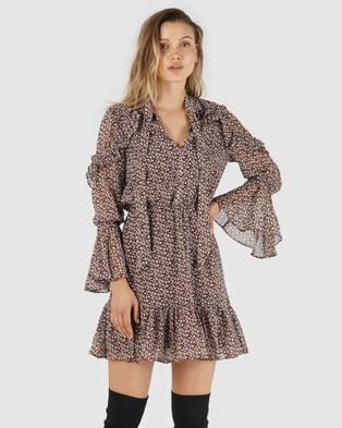 Amelius Nissa Print Dress - Printed Dresses (Wine)