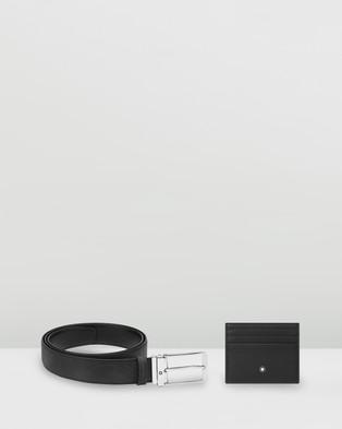 Montblanc Gift Set Pocket 6cc & Belt - Belts (Black)