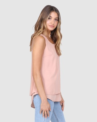 Madison The Label McKinna Top - T-Shirts & Singlets (Apricot)