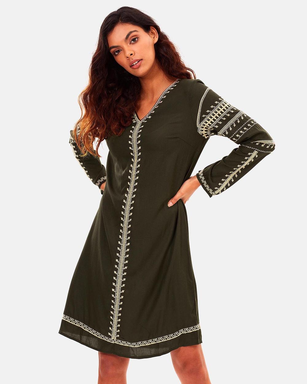Kaja Clothing Sage Dress Dresses Green Sage Dress