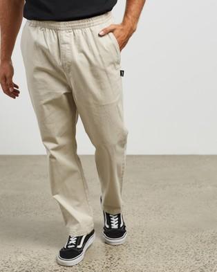 Stussy Basic Corp Beach Pants - Pants (White Sand)