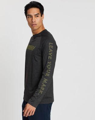 Doyoueven - Blueprint Long Sleeve Tee - Long Sleeve T-Shirts (Charcoal) Blueprint Long Sleeve Tee
