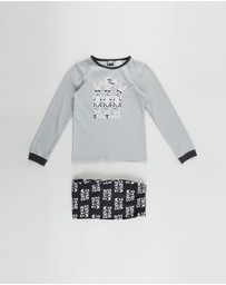 Cotton On Kids - Noah Long Sleeve PJ Set - Kids-Teens