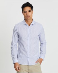 Burton Menswear - Skinny Fit Striped Shirt