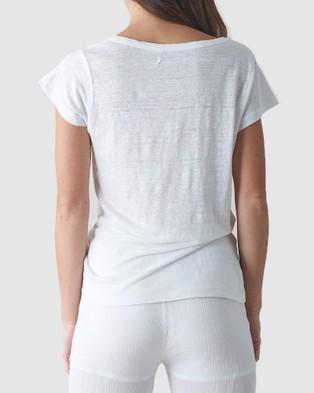Amelius Newport Linen T Shirt - T-Shirts & Singlets (White)