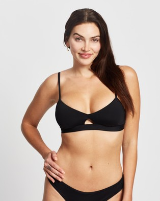 Seafolly – Active Hybrid Bralette Black