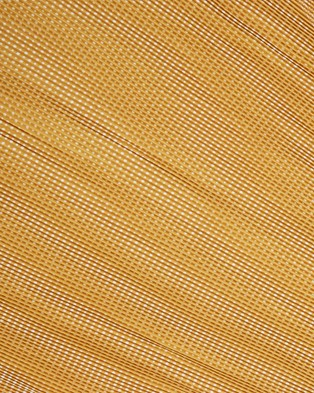French Connection Spot Pleated Scarf - Scarves & Gloves (YELLOW/WHITE)