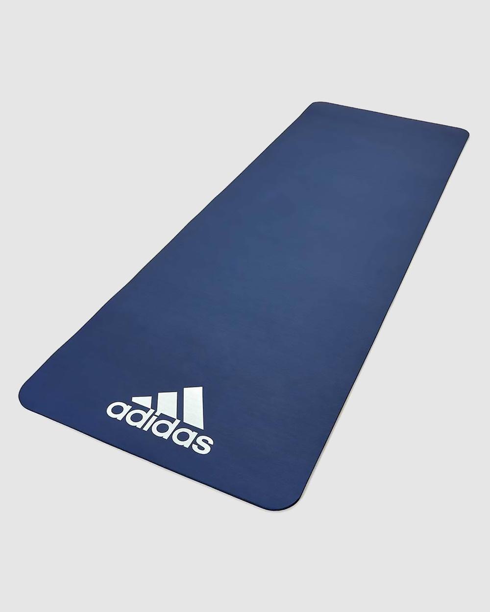 Adidas 7mm Fitness Mat Training Equipment Blue