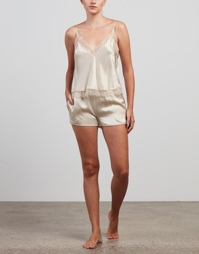 Women Silk Lace Cami & Shorts Set