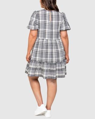 Forever New Curve Katherine Curve Smock Dress - Dresses (Check)