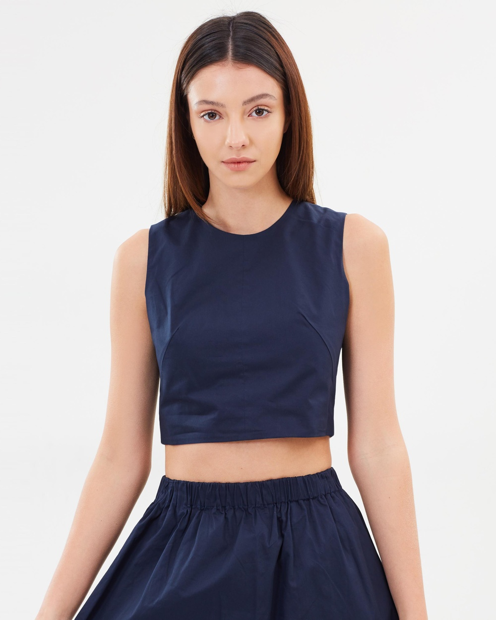 Incu Collection Sunset Crop Top Cropped tops Navy Sunset Crop Top