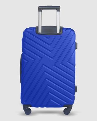Australia JETT BLACK Royal Blue Maze Carry On Suitcase - Bags (Blue)