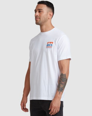 RVCA - Packets Short Sleeve Tee - T-Shirts & Singlets (WHITE) Packets Short Sleeve Tee