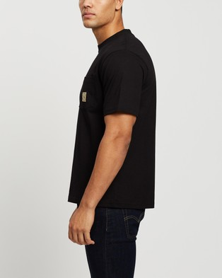 Mr Simple - Heavy Weight Pocket Tee - T-Shirts & Singlets (Black) Heavy Weight Pocket Tee
