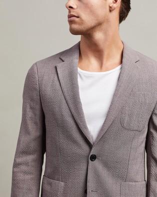 CERRUTI 1881 Textured Blazer Jacket - Blazers (Pink)