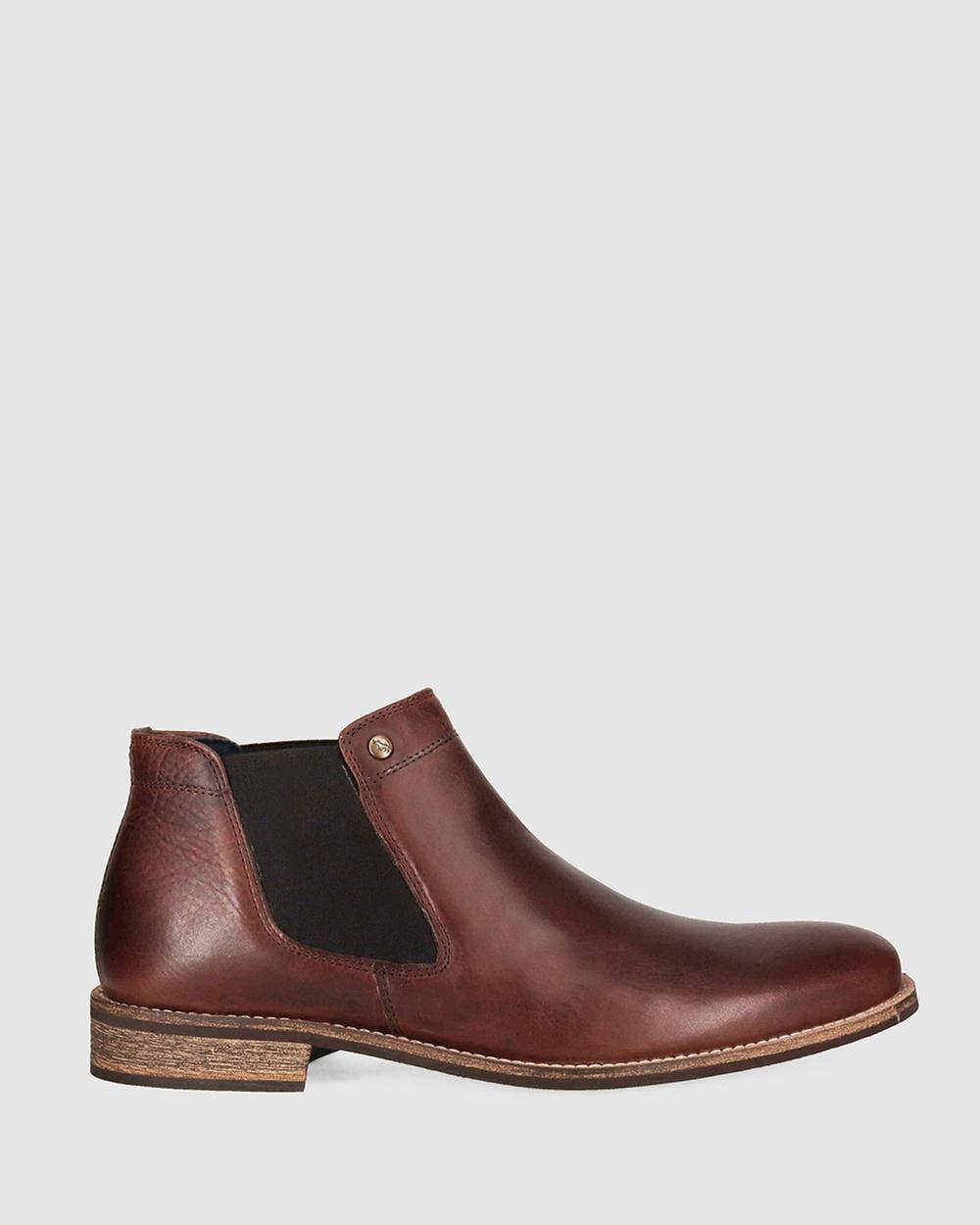 Wild Rhino Drake Chelsea Boots Casual Shoes Brown Australia