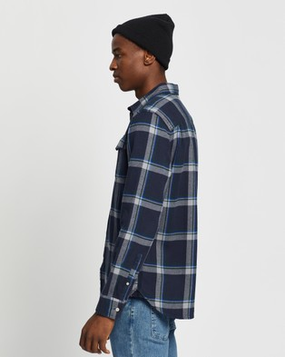 The North Face LS Arroyo Flannel - Casual shirts (Urban Navy Gully Plaid)