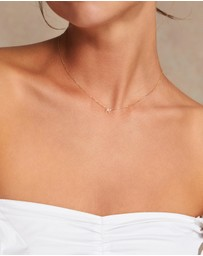 By Charlotte - 14K Gold Love Letter Necklace - M