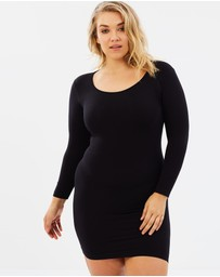 Sonsee  - Long Sleeve Slip Dress