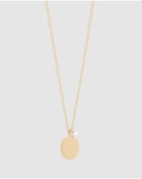 By Charlotte - 14k Gold Peaceful Moon Necklace