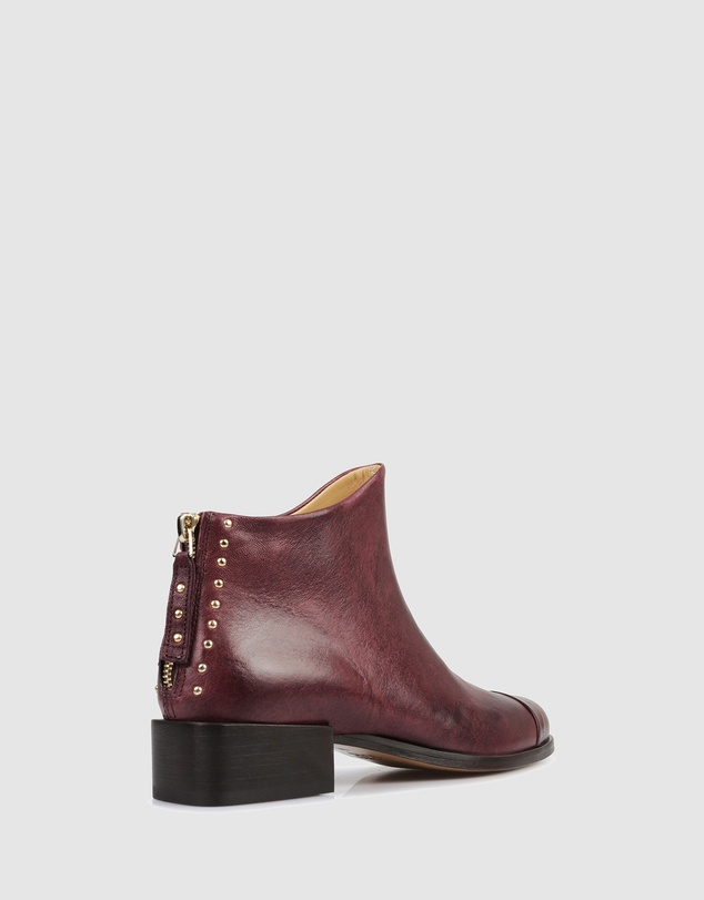 Women Beau5 Square Ankle Boots