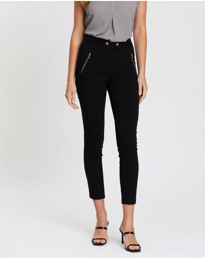 Dorothy Perkins Zip Skinny Trousers Black