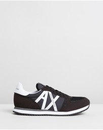 Armani Exchange - Logo Lace-Up Sneakers