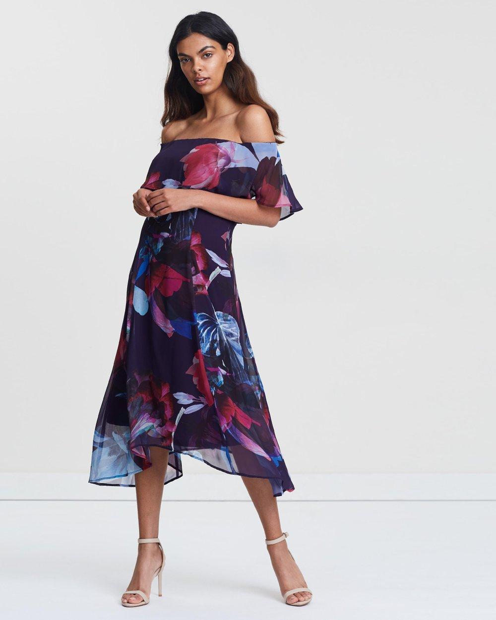 e9b8300088ba Floral Bardot Dress by Wallis Online