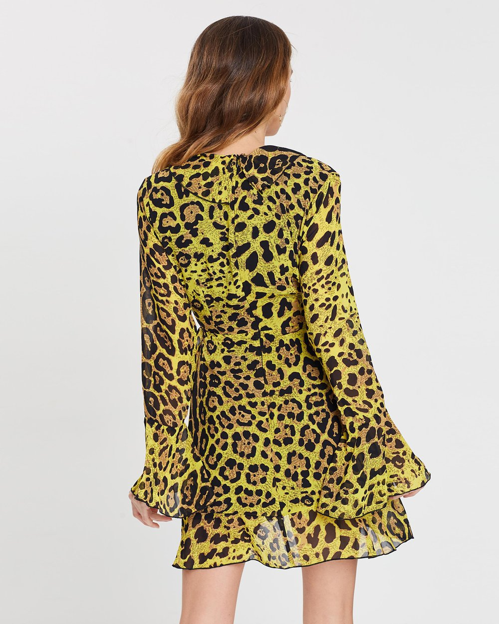 07e51fb327 Leopard Print Ruffle Front Dress by Missguided Online